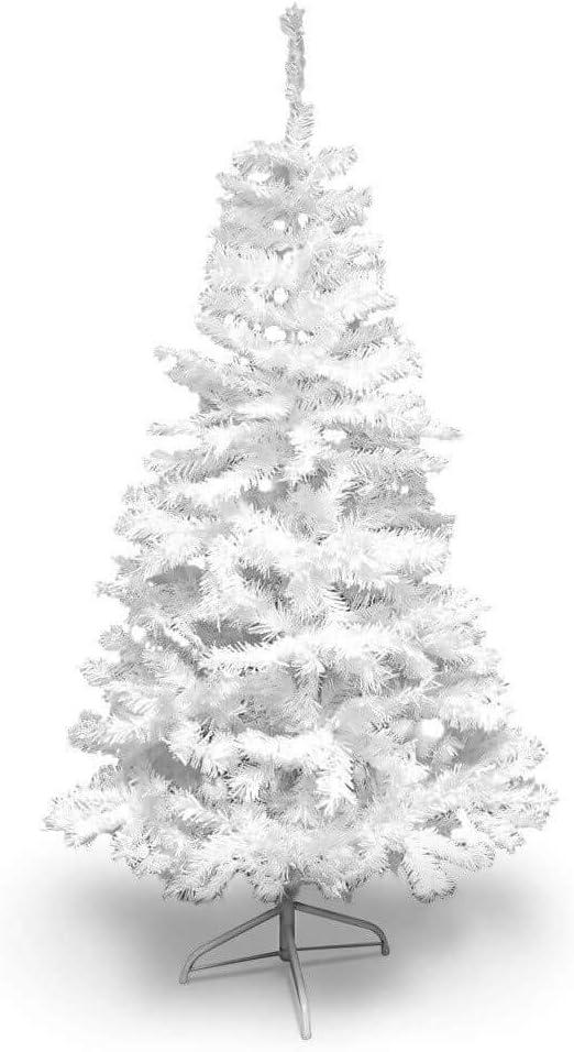 Sapin de No/ël Artificiel Blanc Deluxe 210 cm