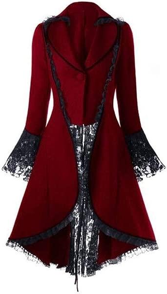 Cuekondy Women S Gothic Tailcoat Steampunk Corset Halloween Costume Lace Tuxedo Suit Coat Victorian Jacket Wedding Uniform