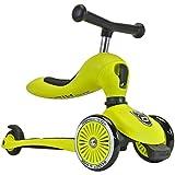 Scoot & Ride 2-in-1 Kickboard mit Sitz, Lime -