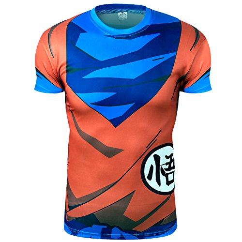 SA Maglia ideogramma Arancione/Blu Sayan Cosplay pidak Shop (Medium)