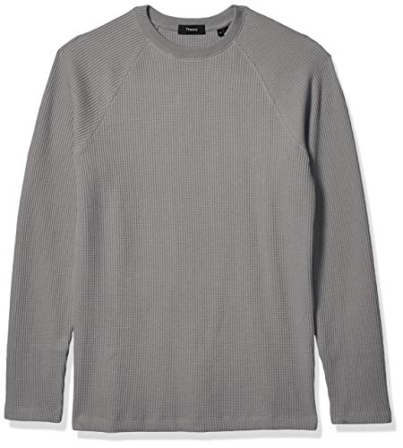 Theory Men's Sweater, River Crewneck, Medium Grey Heather, M