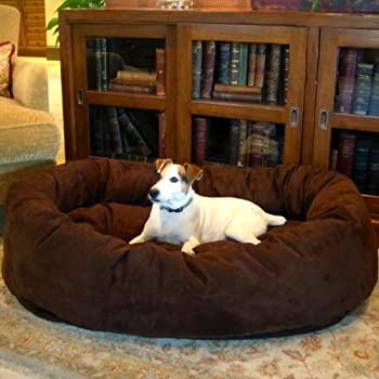 slatters be royal store Round Shape Reversible Dual Ultra Soft Velvet Bed for Dogs and Cats, Large (Brown)