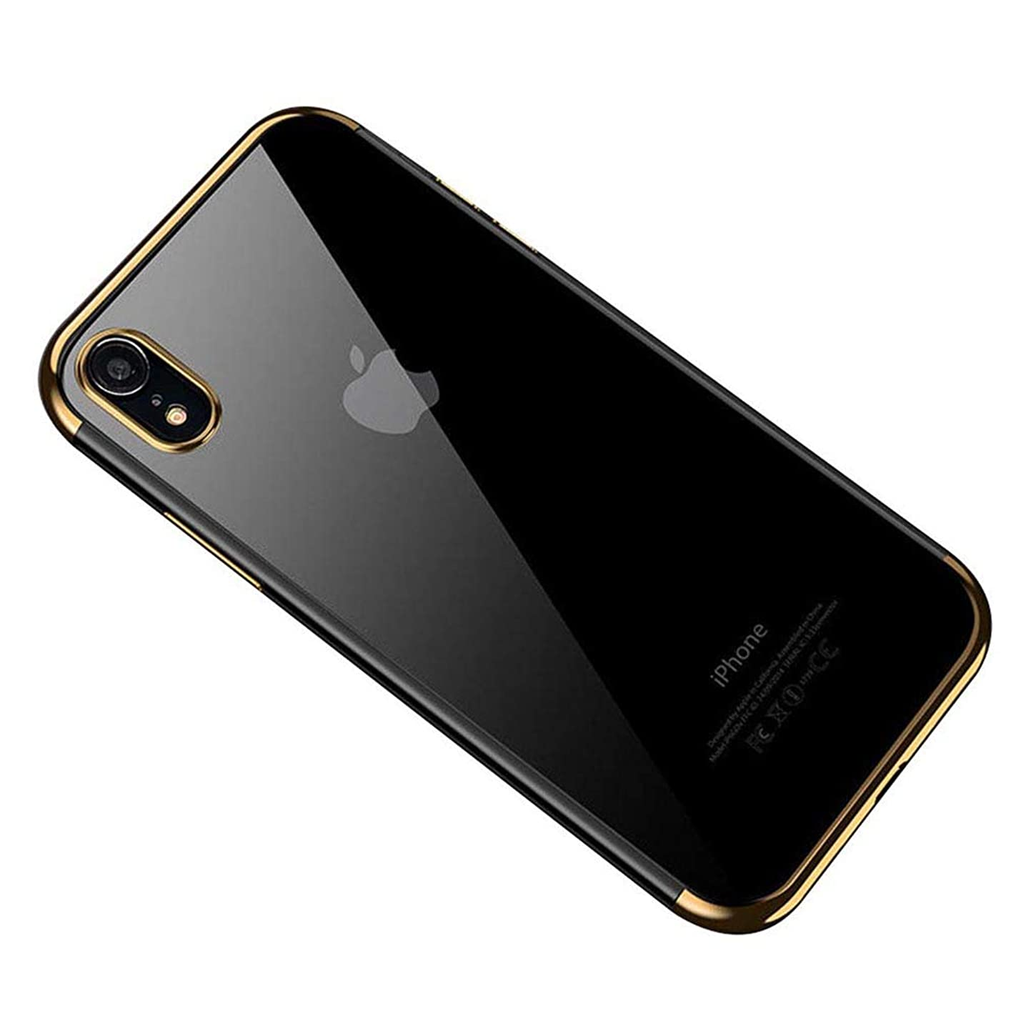 UMTITI Compatible iPhone Xr Case,Hybrid Clear Ultra-Thin Soft TPU Anti-Slip Protective Cover