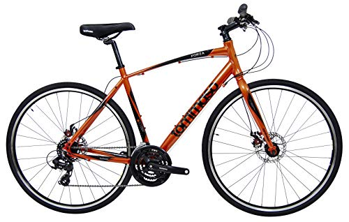 Tommaso Forza Orange Shimano Tourney Hybrid Fitness Bike