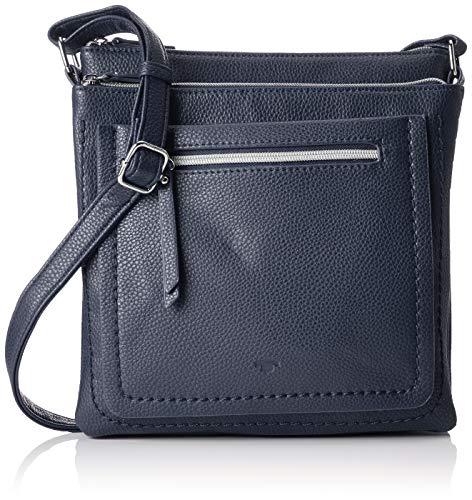 TOM TAILOR Damen Taschen & Geldbörsen Umhängetasche Becky dark blue cognac,OneSize