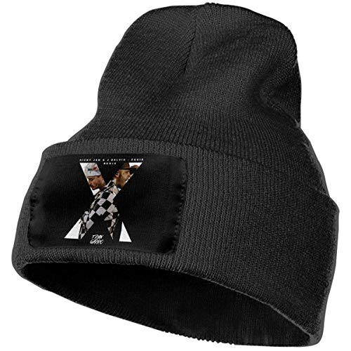 itruty Gorros de Punto Mens & Womens Nicky Jam X J Balvin Skull Beanie Hats Winter Knitted Caps Soft Warm Ski Hat Deep Heather