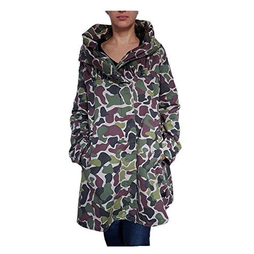 adidas W Parka Camo Military Jacke Damen Khaki Jacket