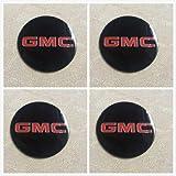 Armertek OG88 4X Sierra Yukon XL Denali 1500 2500 3500 Van Wheel Center Hub Caps Rim Alloy Dust Stickers Logo 3.5 inch (Only Emblems) (Black)
