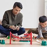 LYQZ Verfolgen Sie die Bausteine des Spielzeugautos der Bausteine des elektrischen Autos Kinder