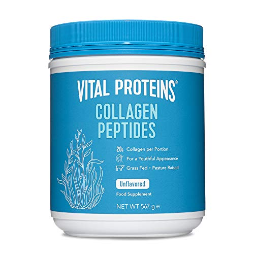 Vital Proteins Collagen Peptides Powder Supplement (Type I, III) - Hydrolyzed Collagen - Non-GMO - Dairy and Gluten Free - 20g per Serving - Unflavored 567g Canister