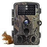 SuntekCam Cámara de Caza 24MP 1296P HD Trail Camera con 36 pz IR LED para visión Nocturna, IP66 a Prueba de Agua con 0.3s Tiempo de activación, actualización, Control más fácil HC-802A