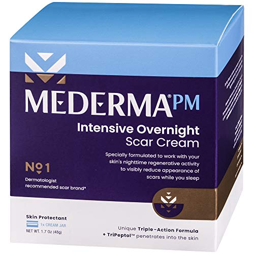 Mederma PM Intensive Overnight Scar Cream - Works with Skin's Nighttime Regenerative Activity - Once-Nightly Application Is Clinically Shown to Make Scars Smaller & Less Visible- 1.7 ounce, 48 grams