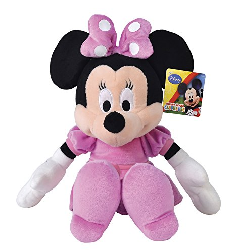 Grandi Giochi- Peluche Minnie, Colore Rosa/Nero, GG-01065