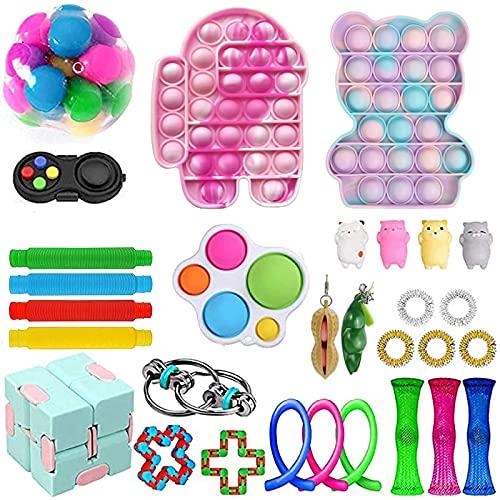 fidget toys set 10 euro Nokiwiqis - Set di 30 giocattoli per alleviare lo stress sensoriale