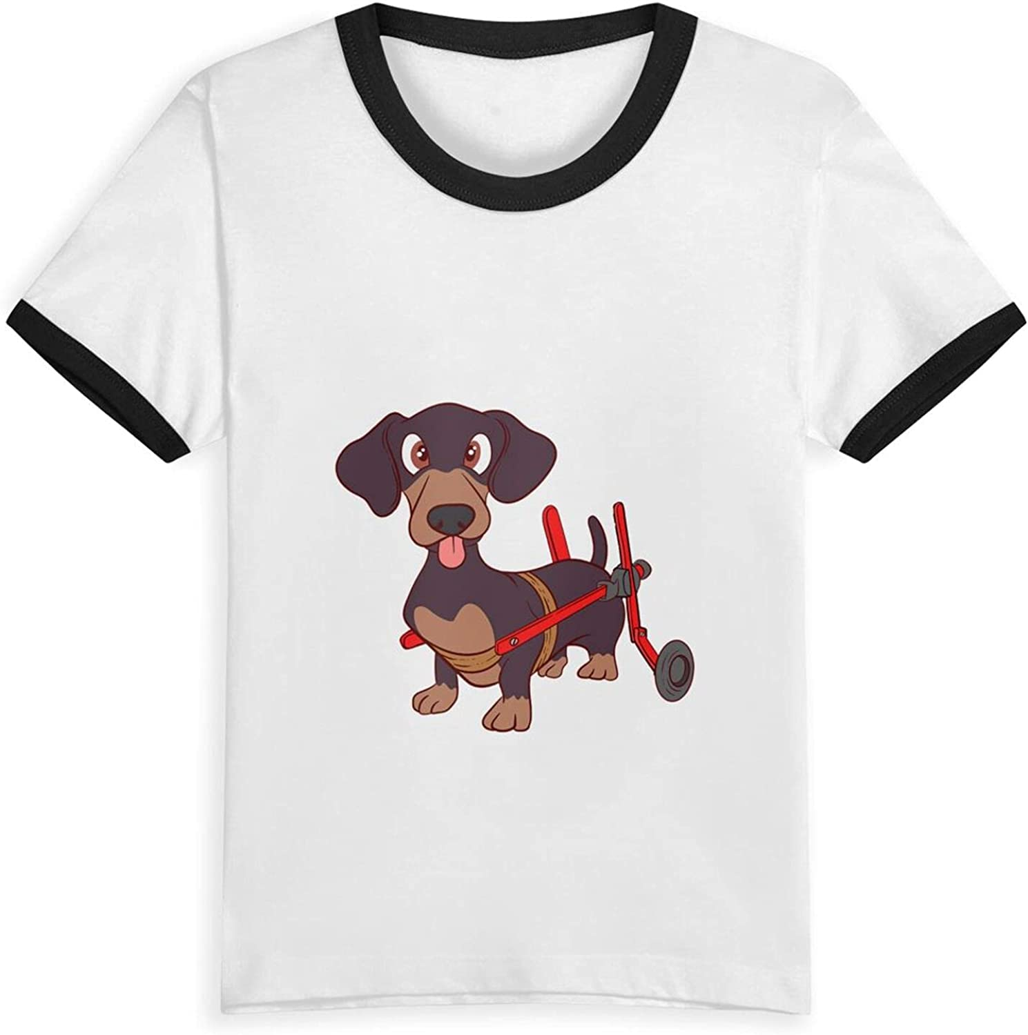 Best Dachshund Ever Paw T-Shirts Novelty for Kids Tees with Cool Designs