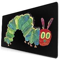 はらぺこあおむし (1) 大型マウスパッド ゲーミング 防水 滑り止マウスパッド ゲーミングマウスパッド かわいい マウスパッド大型 光るマウスパッド サイズ:40*75cm*0.3cm