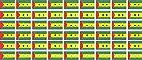 Mini Aufkleber Set - Pack glatt - 20x12mm - Sticker - sao tome and principe - Flagge - Banner - Standarte fürs Auto, Büro, zu Hause & die Schule - 54 Stück
