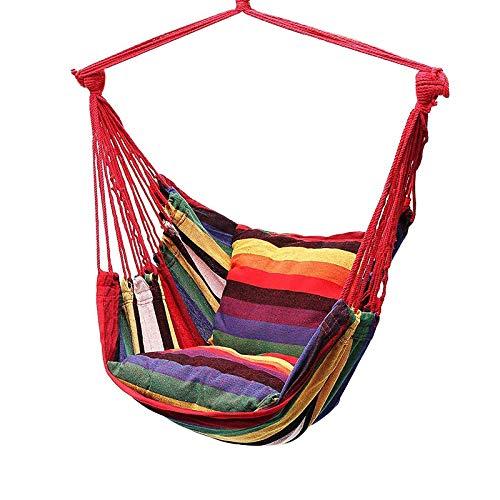 Porcyco - Sedia a dondolo in tela con 2 cuscini da giardino, per interni ed esterni