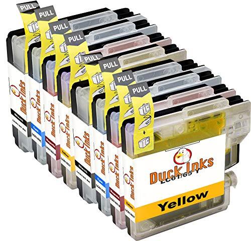 8 x Duck Inks Cartuchos de Tinta para Brother LC980 DCP-145C DCP-163C DCP-165C DCP-167C DCP-195C DCP-197C DCP-365CN DCP-375C DCP-375CW DCP-377CW MFC-250C MFC-255CW MFC-290C MFC-295CN