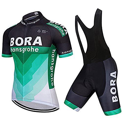 ZZY Maillot Cycliste à Manches Courtes pour Hommes avec Cuissard à Bretelles - Combinaison de vêtements de vélo/Séchage Rapide/Respirant/Anti-Transpiration, The Picture is Accurate 1, l