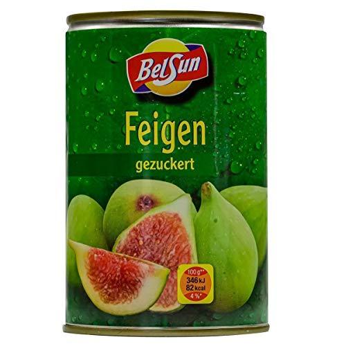 BelSun Feigen - 12x 210g Dose - gezuckerte ganze Feige eingelegte grüne Feigen Obstkonserve aus Spanien fruchtige Feigen vegan glutenfrei schonend verarbeitet