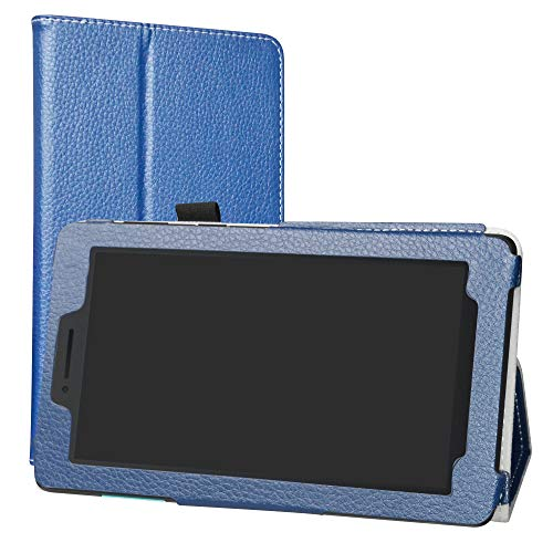 Lenovo TAB E7 Case,Labanema Stand Folio Case Cover for Lenovo TAB E7 7 Inch 2018 Tablet - Dark Blue