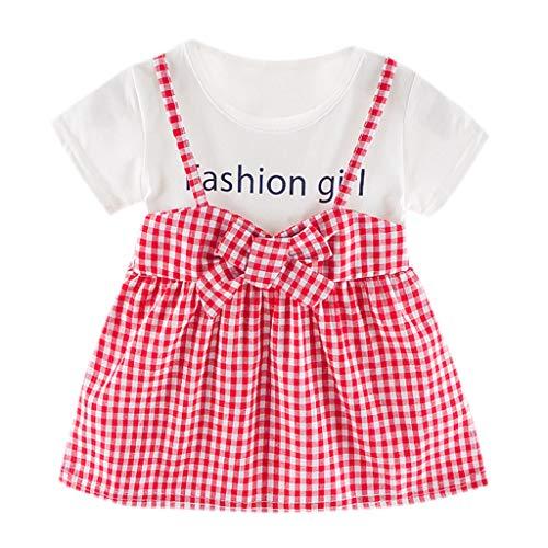 Sunnymi® Robe pour bébé 0-24 mois Motif lapin - Rouge - M