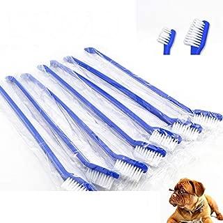 WTYD Pet Supplies 20 PCS Dog Cat Effective Pets Oral Care Pet Toothbrush, Specification:Blue Handle + Medium Hair(Blue) (Color : Blue)