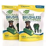 ARK NATURALS Brushless Toothpaste Bundle Pack, Dog Dental Chews for Large Breeds, Vet Recommended for Plaque, Bacteria & Tartar Control, 2 Pack