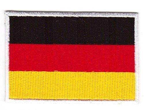 Aufnäher Bügelbild Aufbügler Iron on Patches Applikation Flagge Deutschland 4,5 x 3cm