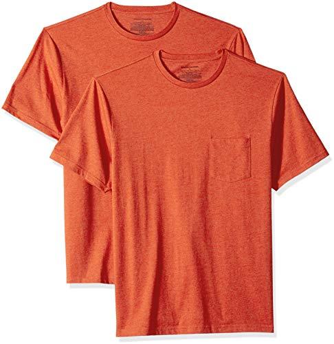 Amazon Essentials - Pack de 2 camisetas de manga corta y cor