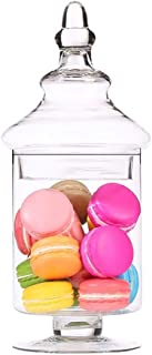 Verre transparent sucre pot avec couvercle, grains entiers Réservoir de stockage Accueil sucre Container, cuisine Conteneu...
