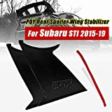 PQY 2PCS Spoiler Wing Stabilizer Compatible with 2015-2019 Subaru WRX STi Sedan Spoiler Wing Stiffi Support Rally with PQY Logo
