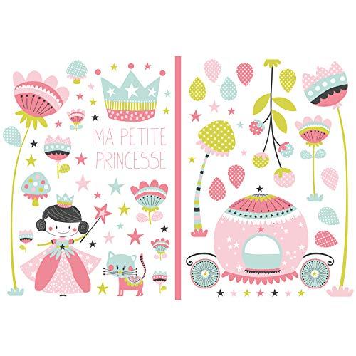 Lutèce 3309042702499 - Papel pintado, diseño de princesa, color rosa