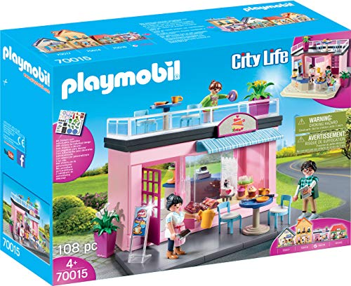 Playmobil - Mi cafe favorito, Playset de Figuras, Color Multicolor, 70015
