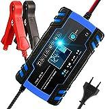 Aibeau Batterie Ladegerät Auto, Autobatterie Ladegerät 8A/24V Batterieladegerät Auto Erhaltungsladegerät mit LCD-Bildschirm Mehrfachschutz für Autobatterie, Motorrad, Rasenmäher oder Boot