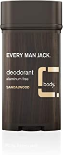 Every Man Jack Dedorant Stick Sandalwood, 3 Oz