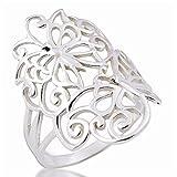 Y DE#xE4C;Y DE#xE4C;Bonito anillo blanco 925 plata esterlina UK=R