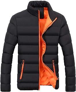 Yczx Men Winter Jacket Warm Thick Winter Parka Men Stand Collar Fashion Padded Jacket Ski Jacket Breathable Warm Fleece Wi...