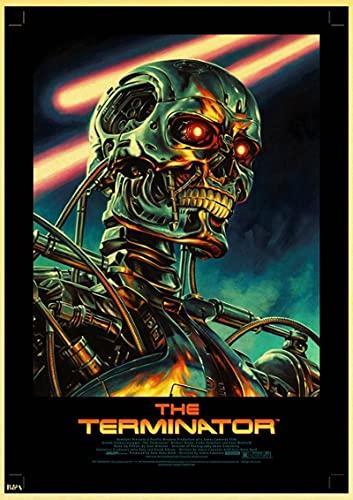 YYAYA.DS Lona Pared Arte Películas de Ciencia ficción clásicas póster Retro de Terminator póster Vintage decoración de Pared decoración Personalizada para habitación 60x90cm