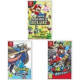 New Super Mario Bros. U Deluxe + Super Mario Odyssey + Pokémon Espada (Nintendo Switch)
