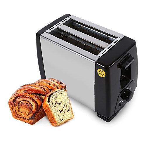 Tostadora De 2 Rebanadas, Máquina De Acero Inoxidable 750W Eléctrica Para El Desayuno Horneado De Pan Doméstico