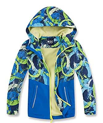 M2C Boys Fleece Lined Waterproof Jacket Color Block Windbreaker Royal Blue 6/7