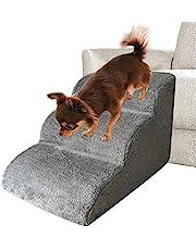 Escalera de perro escalera, escalera de escalada para mascotas, 3 capas para perros pequeños, gatos extraíbles, lavable, antideslizante, escalera, escalón para mascotas, sofá cama