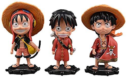 One Piece/One Piece 3 Sombrero de Paja Luffy Boxed Mano Hecho A Mano Edición Vestido Rojo Decoraciones Doll Decoraciones