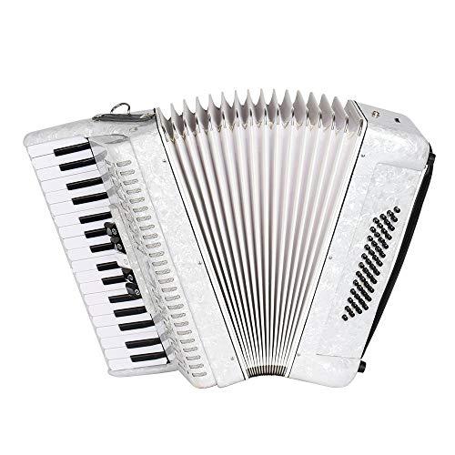M-zutx Blanco 34 teclas 48 Bajo Piano Tecla Acordeón 5 Cambio de voz Sintonización...