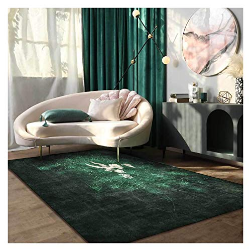 GJCC Area Rugs for Living Room Carpet Soft Comfort Bedroom Rug Home Decor Floor Rug Door Mat Kids Play Crawling Mats Machine Washable,Green,6