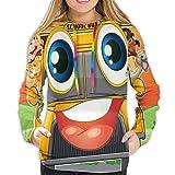 Women's Comfort Print Pullover Music Graphics Hoodies Sweatshirt Various Animals School Bus