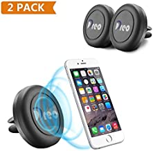 Dreo RFDSA791102452131 Air Vent Magnetic Car Mount Phone Holder Universal Device Fits (Cell Phones, Tablets) – Black – 2 Count