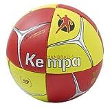 Kempa Nucleus Ballon de Handball, Red/Yellow/Silver, 2